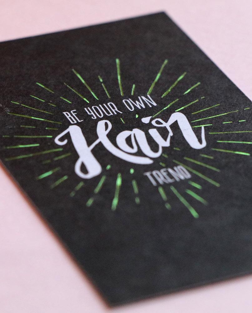 Green foil cards