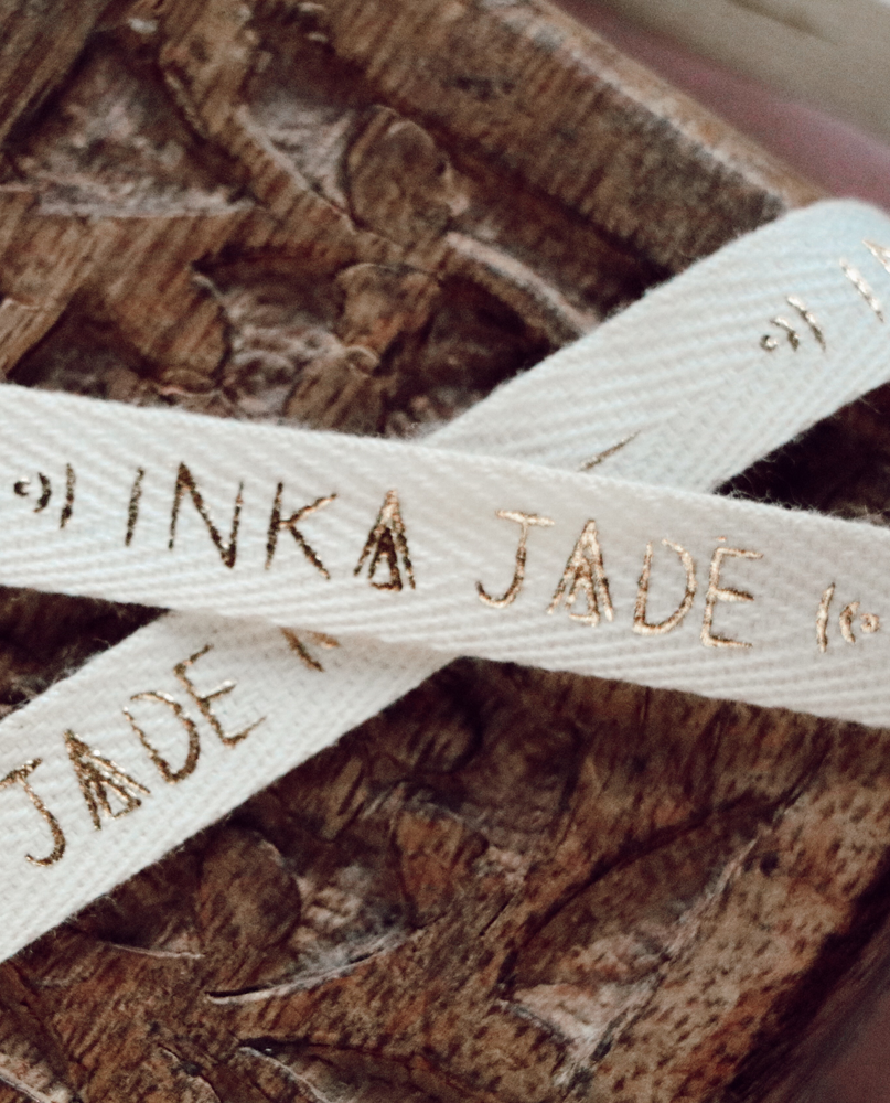 custom gold printed ribbon