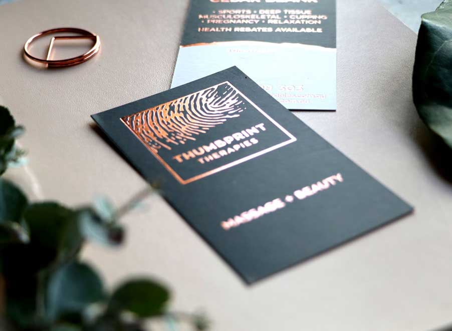 Rose Gold Foil Business Cards